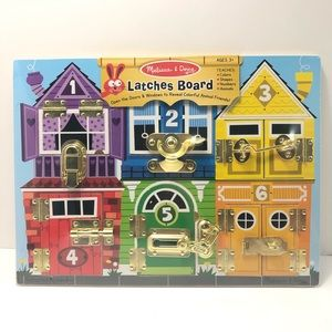 New Melissa & Doug Wooden Latches Board